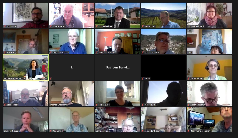 Virtuelle Informationsveranstaltung zur Talumfahrung Schramberg. Fotos: him