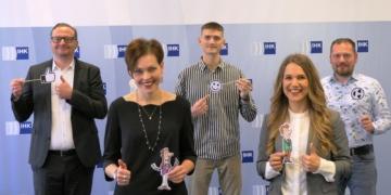 Das Team hinter der Gründergarage (von links): Thomas Wolf, Marlene Roming, Maik Schirling, Rebecca Auber und Marcel Trogisch.  Foto: pm