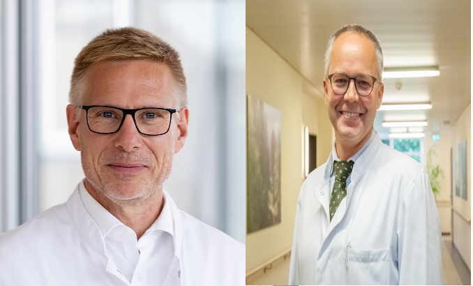 Dr. Wolfgang Heinz (links) und Reneé Hodina stehen allen Interessierten in einer Telefonaktion Rede und Antwort. Fotos: pm