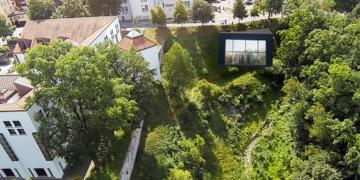 Hier könnte sich Grimm das Parkhaus vorstellen. Links das Dominikanermuseum. Fotomontage: Visualisierung: HAK Design nach Vorgaben Michael Grimm