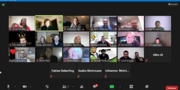 Die Wirtschaftsjunioren veranstalteten ihres erstes Online-Training, wobei auch Mitglieder aus anderen Wirtschaftsjuniorenkreisen Deutschlands teilnahmen.  Bild: Wirtschaftsjunioren