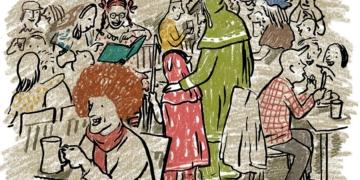 Der neunjährige Rascha wird in Julia Willmanns Roman in die Fasnet eingeführt. Illustration: Jens Rassmus