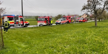 Die Einsatzstelle. Foto: Feuerwehr