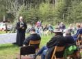 Distriktgottesdienst am Wildgehege in Horgen an Himmelfahrt mit Pfarrer Christian Honold und Kristina Reichle. Foto: pm