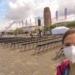 """Katrin Edinger an der """"Weseler Werft"""" bei der Vorbereitung für den Schlussgottesdienst. Fotos: privat"""