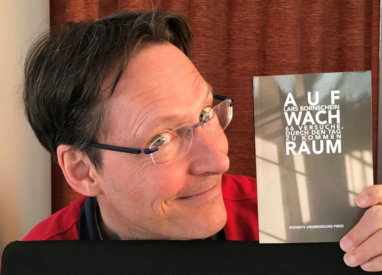 Lars Bornschein und sein jüngstes Werk     Foto: pm