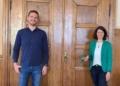 Ausbildungsleiter Nico Obert zu Besuch bei Oberbürgermeisterin Dorothee Eisenlohr. Foto: pm