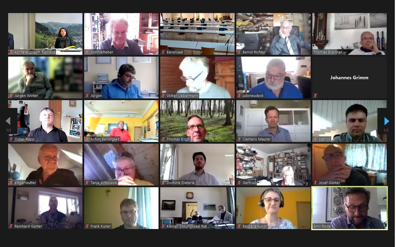 Virtuelle Gemeinderatsssitzung:  Debatte um die Folgekosten.