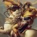 Als heroischen Tatmenschen, der die Alpen überquert, hat Jean-Louis David Napoleon im Jahr 1800 dargestellt (Ausschnitt). Foto: Wikipedia (gemeinfrei),  Fotograf:..ACC:..HD Afdeling. Det Kongelige Biblotek.