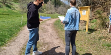 Spurensuche in Tennenbronn. Foto: pm