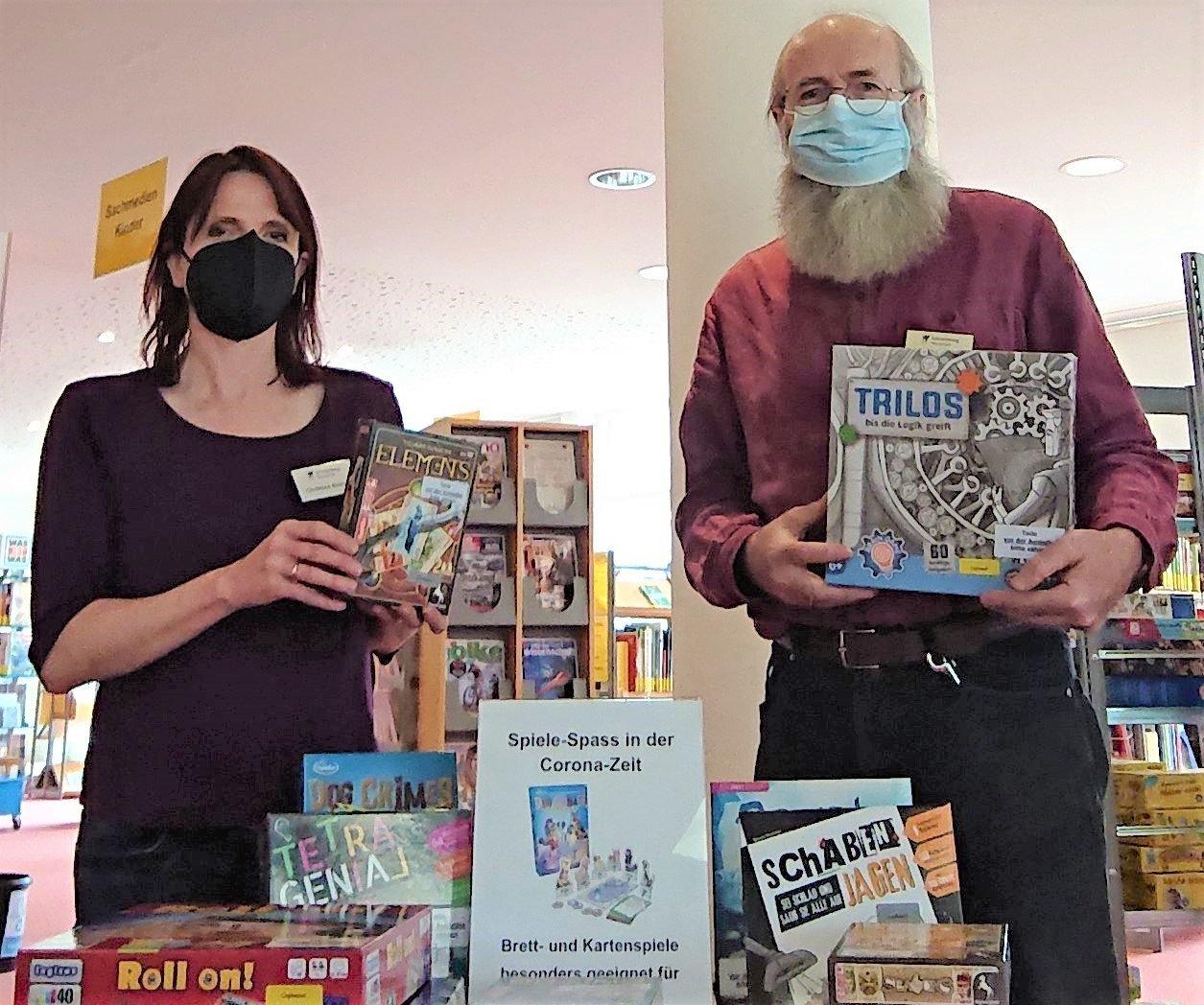 Spiele für Kinder, aber auch für Erwachsene gibt es in der Mediathek Schramberg. Foto: pm