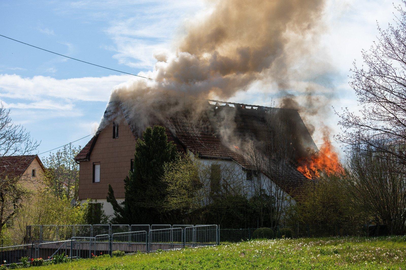Feuer in Aldingen. Foto: privat