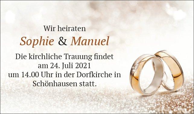 H001 - Hochzeitsanzeige