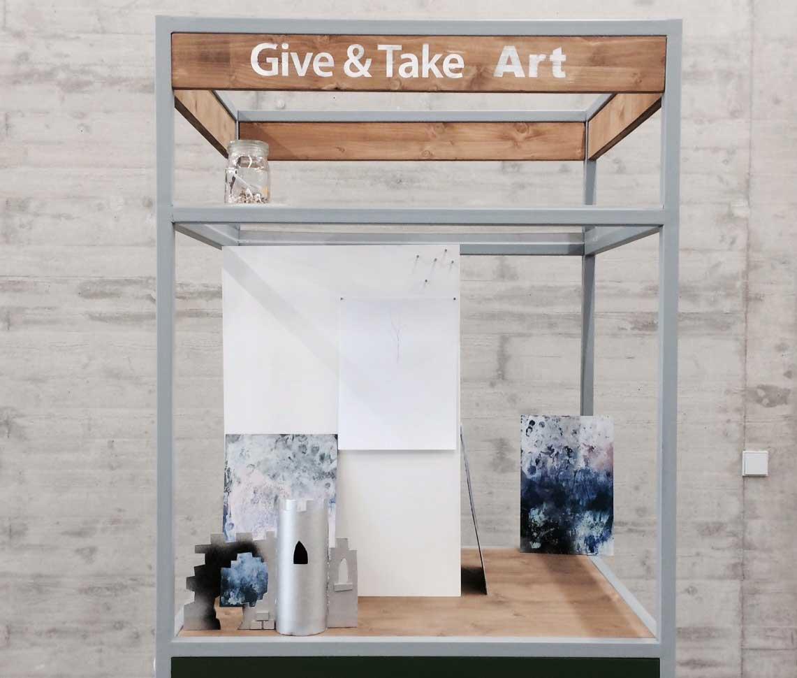 """Ansichten des Kunsttauschsystems """"Give & Take Art"""" von Antoanetta Marinov. Foto: Künstlerin"""