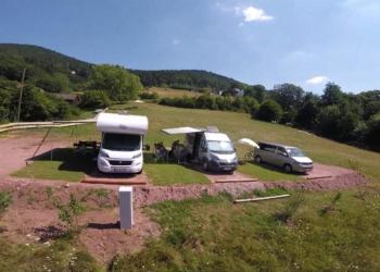 Der neue Wohnmobilstellplatz beim Schwabenhof. Foto: privat
