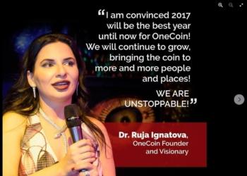 OneCoin-Gründerin Ruja Ignatova auf ihrer Facebookseite im Januar 2017.