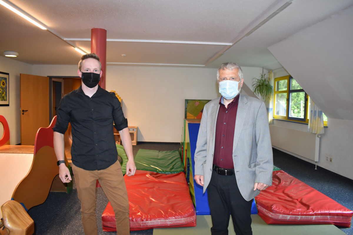 Lukas Neumann, Vertreter der Veranstalter und Stephan Maier, Geschäftsführer der Katharinenhöhe. Foto: pm