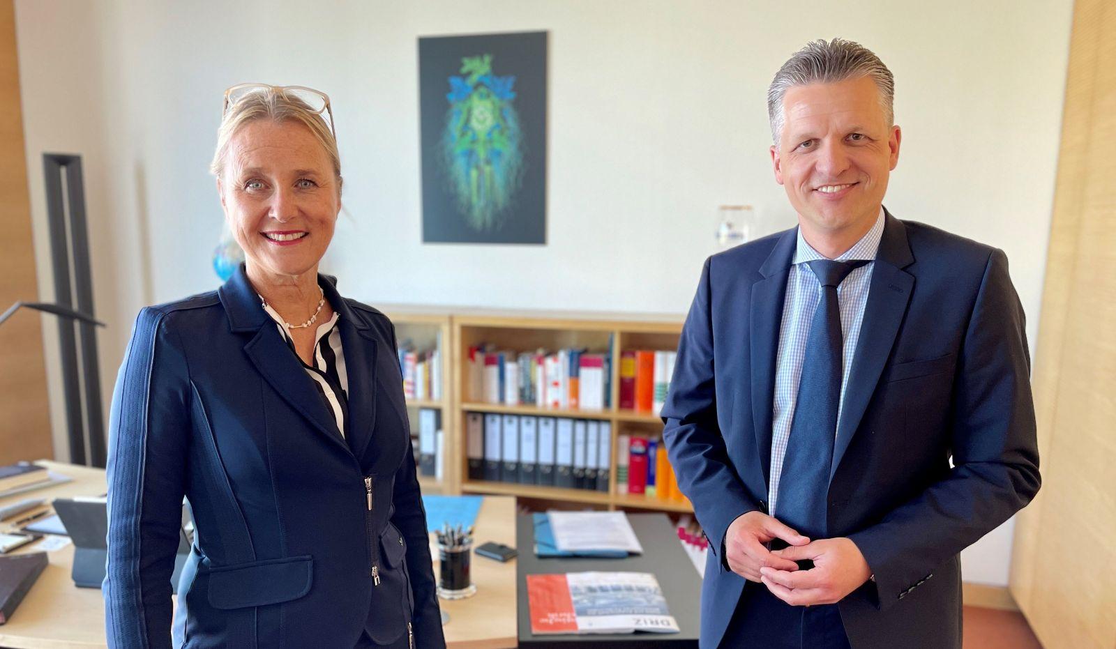 IHK-Präsidentin Birgit Hakenjos zu Besuch und Meinungsaustausch bei Thorsten Frei in Berlin.  Foto: pm