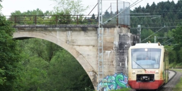 Ringzug (hier bei der Einfahrt in den Halt Saline). Foto: wede
