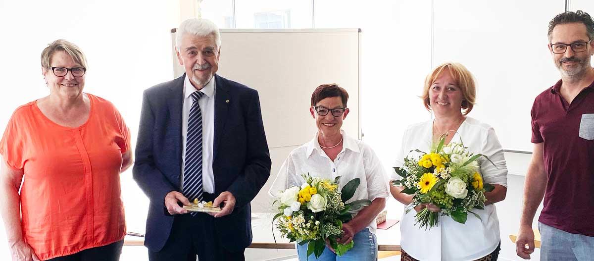 Von links: Angelika Rauser, Dietmar Deuringer, Gabriele Dressler, Martina Hafner und Angelo Sciammacca. Foto: pm