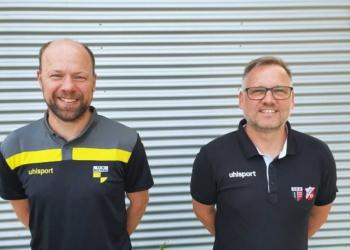 Zusammenarbeit im Jugendbereich: Ralf Volkwein (FV 08) und Ralf Ott (SGD). Foto: pm