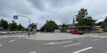 Hier soll es hin, das nächste Rottweiler Parkhaus. Der Omnibusbahnhof soll dafür verlegt werden. Foto: gg