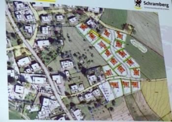 So könnten die neuen Bauplätze in Schönbronn angeordnet werden. Foto: him