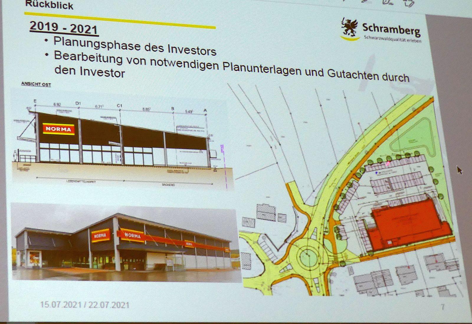 Die Stadtplaner stellten die Pläne für einen Norma-Markt und einen Kreisverkehr in Waldmössingen vor. Fotos: him