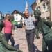 Tourismus und Digitalisierung als Chance: Annette Reif in Lauterbach mit Bürgermeister Norbert Swoboda. Foto: pm