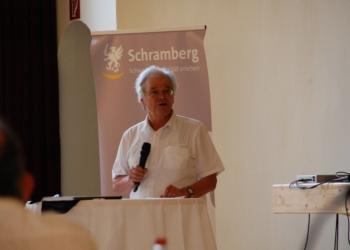 Martin Himmelheber, Fraktionsgemeinschaft SPD-Buntspecht, verabschiedete sich mit einer selbstkritischen und humorvollen Rede nach 15 Jahren aus dem Schramberger Gemeinderat. Alle Fotos: lm
