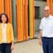 Oberbürgermeisterin Dorothee Eisenlohr und Schulleiter Axel Rombach. Foto: pm
