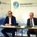 Im zweiten Jahr vor laufenden Kameras: Vorstandsvorsitzender Dr. Harald Stallforth (rechts) moderierte mit den Geschäftsführern Thomas Wolf ...