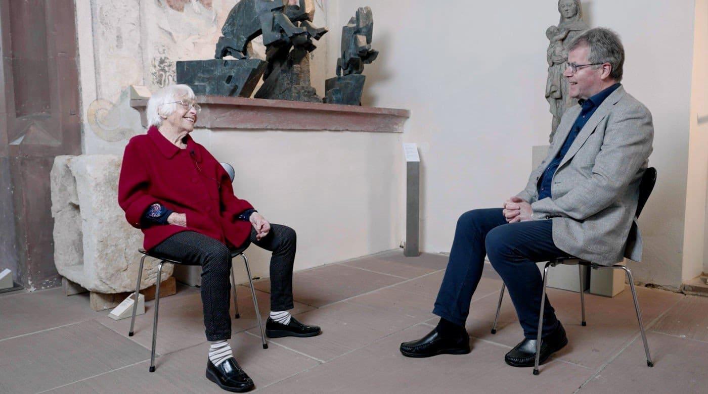 Interview mit der  100-jährigen Ingrid Haas. Foto: pm