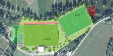 Neben den bisherigen großen Plätzen möchte der SV Waldmössingen noch ein Kleinspielfeld  bauen. Grafiken: Stadt Schramberg