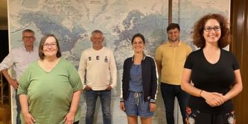 Der neue Kreisvorstand der Grünen (von links): Alexander Rustler, Astrid Böhm, Peter Bruker, Katrin Edinger, Felix Moosmann, Sonja Rajsp. Foto: pm