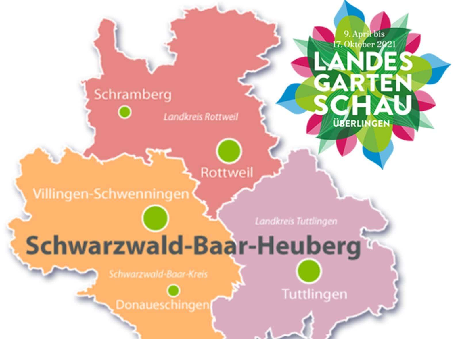 Die Region Schwarzwald-Baar-Heuberg wird auf der Landesgartenschau in Überlingen repräsentiert durch die Musikschulen und Musikhochschule der Region 8 und der Wirtschaftsförderung SBH. Grafik: pm