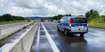 Unfall auf der A 81 zwischen Rottweil und Oberndorf. Foto: Blaulichtreport Rottweil