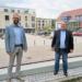 Bürgermeister Ralf Ulbrich (von links) und SPD-Bundestagskandidat Mirko Witkowski. Foto: pm
