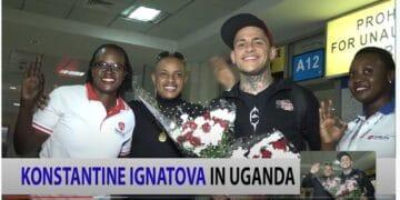 Konstantin Ignatov bei einem Besuch in Uganda im Oktober 2018. Aus einem Werbevideo von OneCoin. Screenshot: him