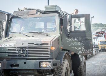 Bundeswehr im Hilfseinsatz in Rheinland-Pfalz. Symbol-Bild von Cheyenne Reeves
