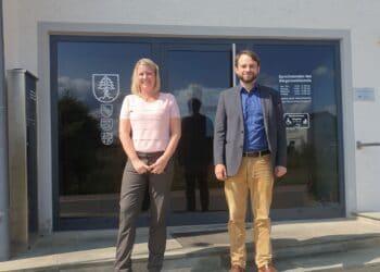 Dr. Andreas Anton, FDP-Bundestagskandidat im Wahlkreis Rottweil-Tuttlingen war zu Gast bei Zimmerns Bürgermeisterin Carmen Merz. Foto: FDP