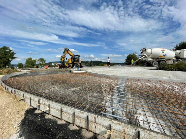 Wird in Betonbauweise ausgeführt: der neue Hornbach-Kreisel bei Rottweil. Foto: Klaus Hummel