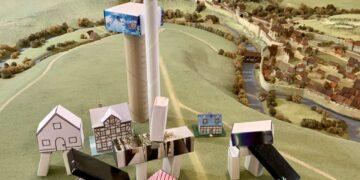 In der Altertumshalle des Stadtmuseums entsteht am Tag des offenen Denkmals ein Stadtmodell der Zukunft. Foto: Sophia Miller