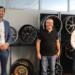 Daniel Karrais MdL bei  Klaus Wohlfarth und Jürgen Klingelmeyer (von links). Foto: pm