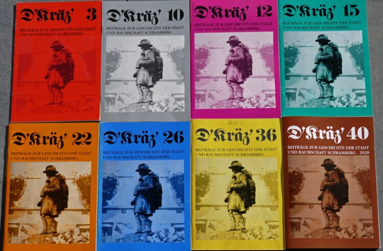 """40 Hefte """"D' Kräz"""" sind schon erschienen. Sie sind beim """"Kräz""""-Flohmarkt des Museums- und Geschichtsvereins am 19. September im Schloss alle noch erhältlich. Foto: Museums- und Geschichtsverein"""