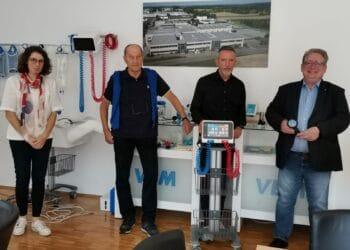 Ruth Lebold (von links), Volker Bertram, Frank Hägele und Mirko Witkowski. Foto: pm