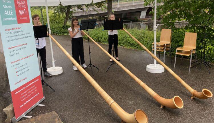 Die Alphorngruppe der Musikschule tritt am 25. September auf.