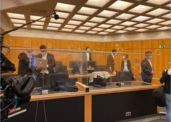 Vor Verhandlungsbeginn im Landgericht Münster. Fotos: privat