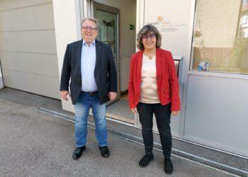 Mit der Leiterin Heike Wöhr von der Schwangerschaftskonfliktberatungsstelle donum vitae war SPD- Bundestagskandidat Mirko Witkowski im Gespräch. Foto: privat