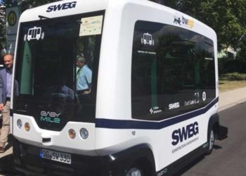 Zur Landesgarenschau in Lahr fuhren bereits erste autonom fahrende Busse. Foto: Land